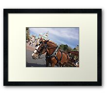 Main Street Ponies Framed Print
