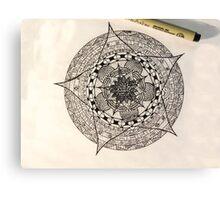 Flower Template Mandala Canvas Print