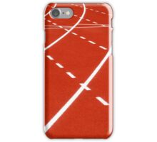 At the turn on running track iPhone Case/Skin