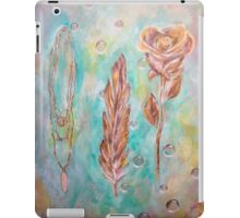 feather necklace rose  iPad Case/Skin