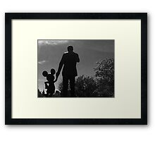 To all who come to this happy place Framed Print