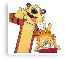 calvin and hobbes mocking Canvas Print