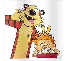 calvin and hobbes mocking Poster