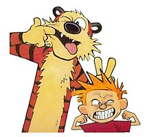 calvin and hobbes mocking Photographic Print