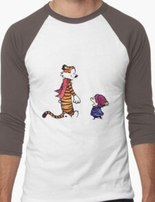 calvin and hobbes talk and walk Men's Baseball ¾ T-Shirt