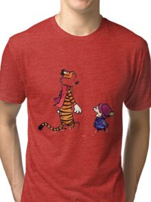 calvin and hobbes talk and walk Tri-blend T-Shirt