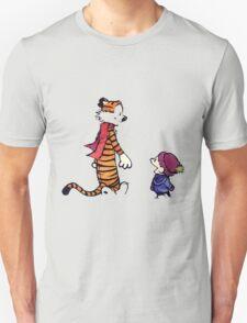 calvin and hobbes talk and walk T-Shirt