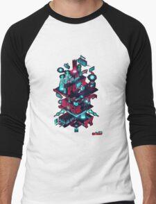 Mr robot diagram Men's Baseball ¾ T-Shirt