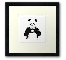 Love Panda Framed Print