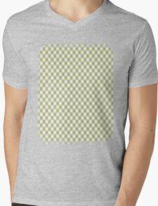 Cactus Garden Gingham 1 Mens V-Neck T-Shirt