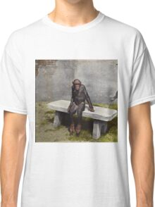 """Mary"" on a bench with a pipe, ca 1940 Classic T-Shirt"
