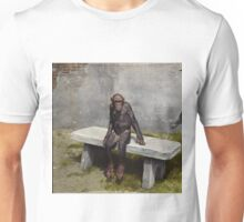 """Mary"" on a bench with a pipe, ca 1940 Unisex T-Shirt"