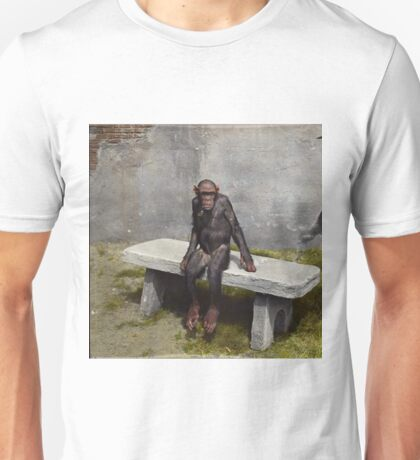 """""""Mary"""" on a bench with a pipe, ca 1940 Unisex T-Shirt"""