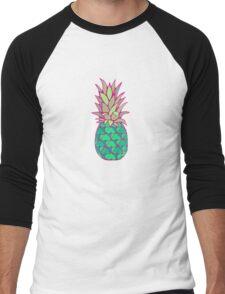 Colorful Pineapple Men's Baseball ¾ T-Shirt
