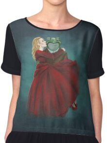 Froggy and Red Chiffon Top