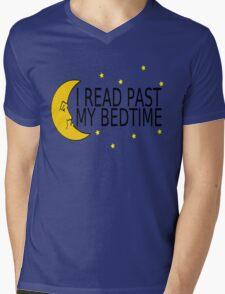 I Read Past My Bedtime Mens V-Neck T-Shirt