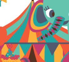 Big Top Circus Trapeze Elephants Clown Sticker