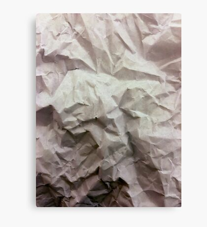 """""""crumpled paper"""" iPhoneography Canvas Print"""