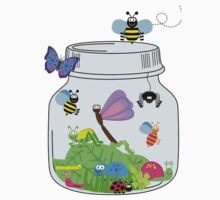 Cute Insects Bugs in Bug Jar Kids Tee