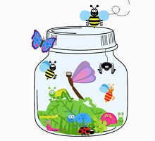 Cute Insects Bugs in Bug Jar Womens Fitted T-Shirt