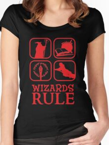 Wizards Rule Women's Fitted Scoop T-Shirt