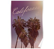 California Palm Tree Heart Poster