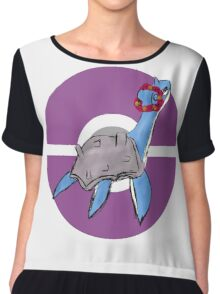 Lapras with Flower Crown Chiffon Top