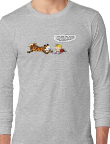 Calvin And Hobbes : Discussion Long Sleeve T-Shirt