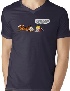 Calvin And Hobbes : Discussion Mens V-Neck T-Shirt