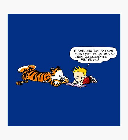Calvin And Hobbes : Discussion Photographic Print