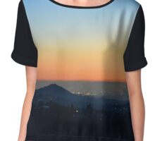 Los Angeles Sunset 01-17-15 Chiffon Top