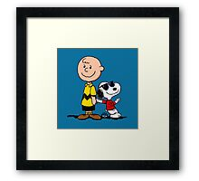 Charlie Brown And His Good Friend Framed Print