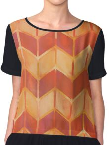Chevron - Brushfire Chiffon Top