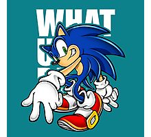 What Sonic  Photographic Print