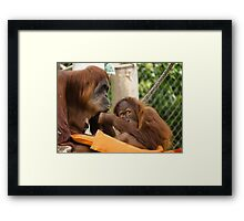 Cheeky Chin Grab Framed Print
