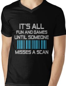 FUN & GAMES Mens V-Neck T-Shirt