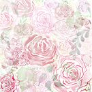 Mom's Watercolor Roses by Lallinda