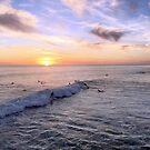 California Sunset Surfers by Kimberly Palmer