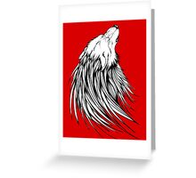 Wolf Cry Greeting Card