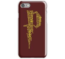 P Potter iPhone Case/Skin