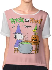 Snoopy Trick Or Treat Chiffon Top