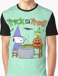 Snoopy Trick Or Treat Graphic T-Shirt