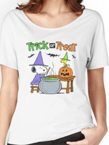 Snoopy Trick Or Treat Women's Relaxed Fit T-Shirt