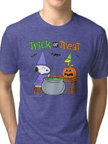 Snoopy Trick Or Treat Tri-blend T-Shirt