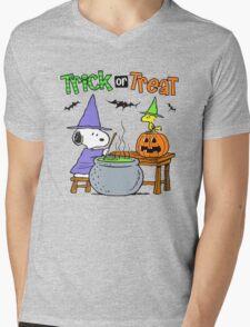 Snoopy Trick Or Treat Mens V-Neck T-Shirt