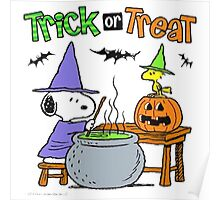 Snoopy Trick Or Treat Poster