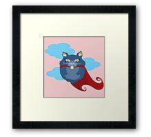 Supercat Hero Framed Print