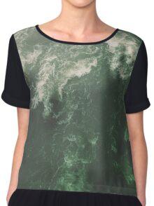 Green Ocean Chiffon Top