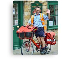 Cheeky, Happy Postie at work in Sherbourne Canvas Print