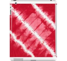 tye n dye diagonal lines by fan folding print iPad Case/Skin